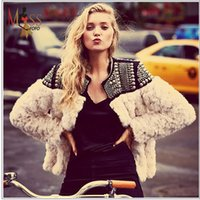 ladies quilted winter coat - 2016 autumn winter high fashion street women s handwork Beaded faux fur coat quilted jacket good quality for lady