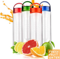 Wholesale 50PCS HHA Newest Fashion ml Fruit Infuser Water Bottle Infusion AS Drink Lemon Juice Bottle