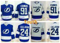 bay boy - Youth Steven Stamkos Jerseys Tampa Bay Lightning Children Ryan Callahan Jersey Kids Ice Hockey Team Color Blue White