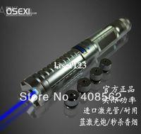 Wholesale New w blue laser flashlight blue laser pointers instant cigarette send heads