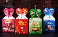 apple fruit products - 10pcs new Apple box of Christmas Safe fruit folding carton Apple Packing Box Christmas products gift box