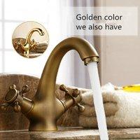 antique brass bathroom faucet - Antique Brass vessel Antique faucet bathroom waterfall vanity sink taps basin mixer tap bathroom crane