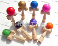 Wholesale Hot Sale Big size cm Kendama Ball Japanese Traditional Wood Game Toy Education Gift Children toys colors