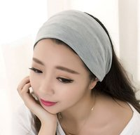 Wholesale 2015 wide headband women cotton headband elastic Yu Ga movement solid hairband girls hai accessories headband for girls YWYS