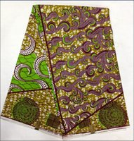 100 cotton fabric - 2014 new fashion high quality African Hollandais wax prints fabric cotton fabric for clothing sewing gift cloth yards LI005