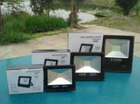 Wholesale 10PCS DHL chip LED Flood Light Landscape Projection black Waterproof W W W V outdoor bulb Led Floodlight