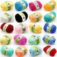Cheap 500g lot (50g ball,10balls lot) Worsted Cashmere Cotton Soy Baby Knitting Yarn Sweater Wool Cashmere Support Mixed Purchase