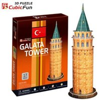architecture series - Supernova Sales Birthday gifts educational puzzle toys D paper model World Architecture series Paper craft Gallas Tata