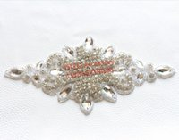 clear glass ornaments - pc cm long trims clear glass crystal rhinestone applique beaded ornaments decorations for garment boots coat
