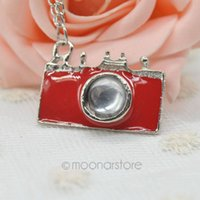 Wholesale Women Necklace Pendant Necklaces Sweater Chain Vintage Style Unique Design Colors Fashion Jewelry Camera Shape