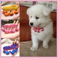 bell collar for dogs - 2016 Newly Design Adjustable Handcrafted Wool necklace with small bells Dog Cat Pet pendant no discomfort for the animal