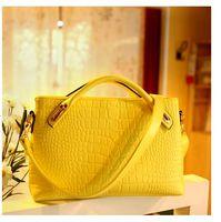 Wholesale 2015 Hot Sale Women Alligator tote bags Fashion Trendy designer handbag briefcase women brands new retro messenger bag shoulder bags purse