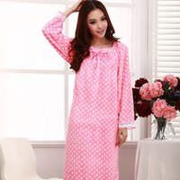 Wholesale winter Thickenging full sleeve flannel women long nightgowns royal princess robe comfortable pijama Plus Size