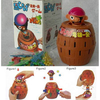 Wholesale Pop Up Gadget Pirate Barrel Kid Children Funny Lucky Stab Games Toy Hot