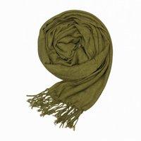 Wholesale New Perfect Lady Faux Cashmere Scarves Warm Army Green Long Shawl Wraps Women Soft Neckerchief ELO11