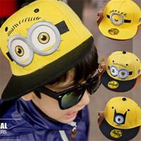 yellow baseball hat - 3pattern Despicable Me Children Hat Cartoon Minion Fashion Boy Girls Yellow Baseball Caps For Years I4536