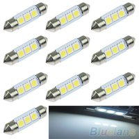 Wholesale 5X mm SMD LED Pure White Car Festoon Map Interior Dome Light V