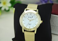Wholesale High quality men s diamond steel watches Golden digital wrist watches pointer Birthday gifts cheap jewelry drop shipping LY