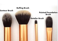 Wholesale 2015 High Quality real tech Real tech nique4 gold Brushes soft hair Professional Makeup powder blush brush set sets by DHL