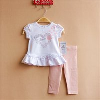 Cheap 15 years of children's clothing girls suit RARE EDITIONS love the original single white short-sleeved suit