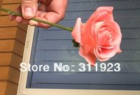artificial peach roses - Artificial coral flowers Coral peach real touch roses