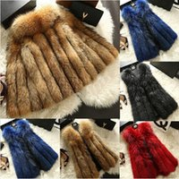 Wholesale 2014 New Real Natural Fox Fur Vest Coat Women Fashion Genuine Fur Gilet Jackets Overcoat Warm Spring Winter Wasitcoat Outerwear TPC063