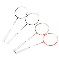 Wholesale New Pair Badminton Rackets Lightweight Durable Training Badminton Racket Racquet with Carry Bag Sport Equipment Colors