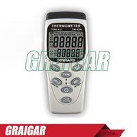 Wholesale TENMARS TM N Temperature Humidity Meters and Dataloggers with dual input TM N Dual LCD digit display industrial thermometer