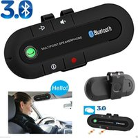 Wholesale New Bluetooth Wireless Multipoint Bluetooth Hands Free Car Kit Speakerphone Speaker Visor Clip