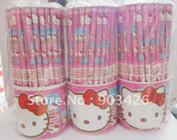 Wholesale By DHL EMS UPS Hot Sale Hello Kitty Wooden Pencil Set Children Stationery Set School Set G1281