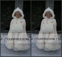 belted cape jacket - 2016 Children Faux Fur Bridal Capes Cloaks Winter Hooded Grape Tea Length Custom Made Short Girls Kids Wedding Bolero Jackets Shawl