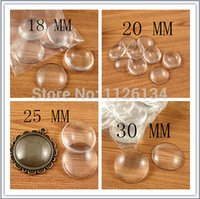 Wholesale 18 mm mm mm mm Clear Round Glass Dome Cabochon Beads
