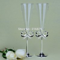 champagne flutes - China post air mail Wedding Toasting Flutes Three Dimensional Transparent Champagne