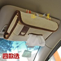 bear paper dolls - Kawaii bear doll Cartoon styling car sunvisor type tissue box cover Car sun visor Paper Napkin bag storage holder