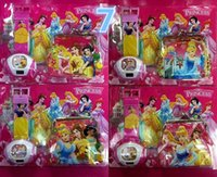 Wholesale Princess projection Watch coin Purse set Princess projection Watches Princess coin wallet for Christmas Kids Boys Girls Gift H0404k