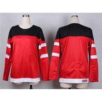 women athletic wear - 2015 Canadian National Hockey Team Jersey for Women World Juniors th Anniversary Red Blank Hockey Jerseys Ladies Athletic Wear
