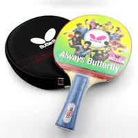 Wholesale Table Tennis Racket Racket Ping Pong Paddle Bat Blade Fast Reverse Penhold Primary Training Leisure Sports Games Raquets Outdoor Shakehands