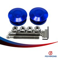 Wholesale PQY RACING Universal Push Button Billet Hood Pins Lock Clip Kit Car Quick Latch New Engine Bonnets Blue PQY HP31BL