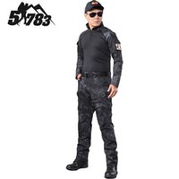Wholesale Brand Tactical Camouflage Military Uniform Clothes Suit Men US Army Multicam Hunting Military Combat Shirt Cargo Pants