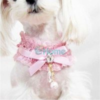 Wholesale New Pet Puppy Cat Princess Lace Wedding Style Charm Necklace Collar Fashion