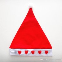 Wholesale 2014 Christmas Decoration Supplies RM204 nonwoven electronic cap LED lamp cap red love and light Christmas hat