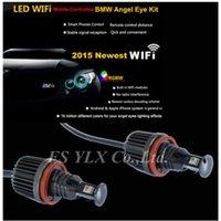 Wholesale Wifi Control E92 H8 LED Marker Angel Eyes x20W W Canbus Cree LED Bulbs Error Free RGB Color Led marker headlight