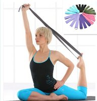 Wholesale New Yoga Stretch Strap D Ring Waist Leg Fitness CM Adjustable Belts Free shippng