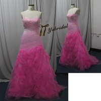 Wholesale Real Image Mermaid Sweetheart Pageant Prom Dresses Sweetheart Evening Party Celebrity Gowns Cheap