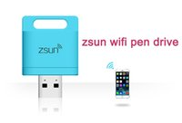 Wholesale zsun wifi pen drive iphone6 s Apple Wireless Reader iPhone iPad Android tablet wireless expansion