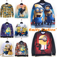 Cheap Wholesale Cute cartoon Despicable Me Minions 3D print hoodie women&men outdoor clothes girl boy funny costume cartoon sweatshirt