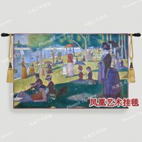 Wholesale Famous painting series Georges Seurat Bowl Island Sunday afternoon Art tapestry fashion wall hangings george middot Tapestry