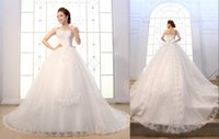 designer wedding dresses - Vinatge Wedding Dresses Sexy With Lace Up In Stock Ball Gowns Long Bridal Dress Backless Formal Sheer Designer Cheap Under Crystal