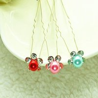 Wholesale Hair Pins for Weddings Good Quality Rhinestone and Alloy Materials Unique Design Beautiful Girls Flower Hair Accessory