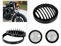 Wholesale 5 quot Aluminum CNC Headlight Grill Cover For Harley Sportster XL